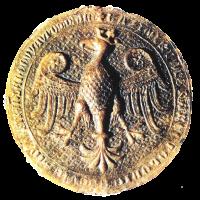 Orzeł z pieczęci Kazimierza Wielkiego (1335)