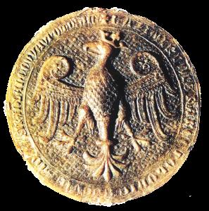 Rewers pieczęci majestatycznej Kazimierza III Wielkiego
