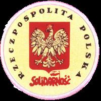 znaczek Solidarności z Orłem Białym w koronie (1981)